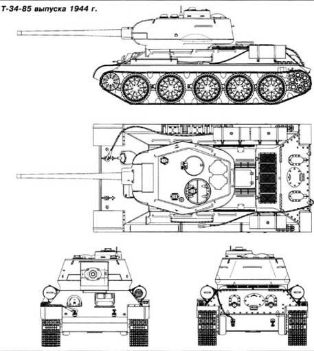 Т-34-85 (ЗИС-С-53) – 85-мм